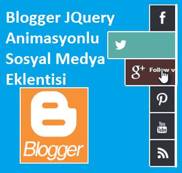 Blogger JQuery Animasyonlu Sosyal Medya Eklentisi