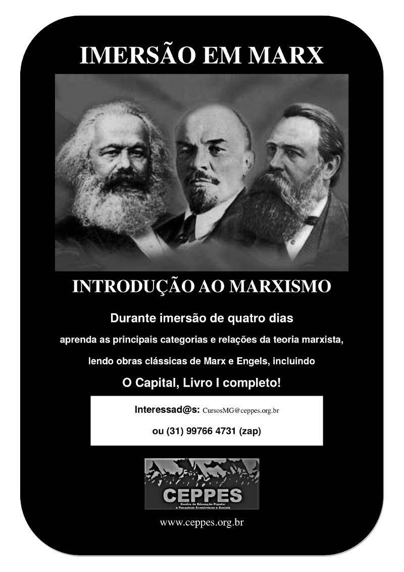 IMERSÃO EM MARX