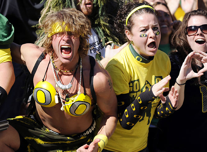 Crazy oregon duck cheerleaders