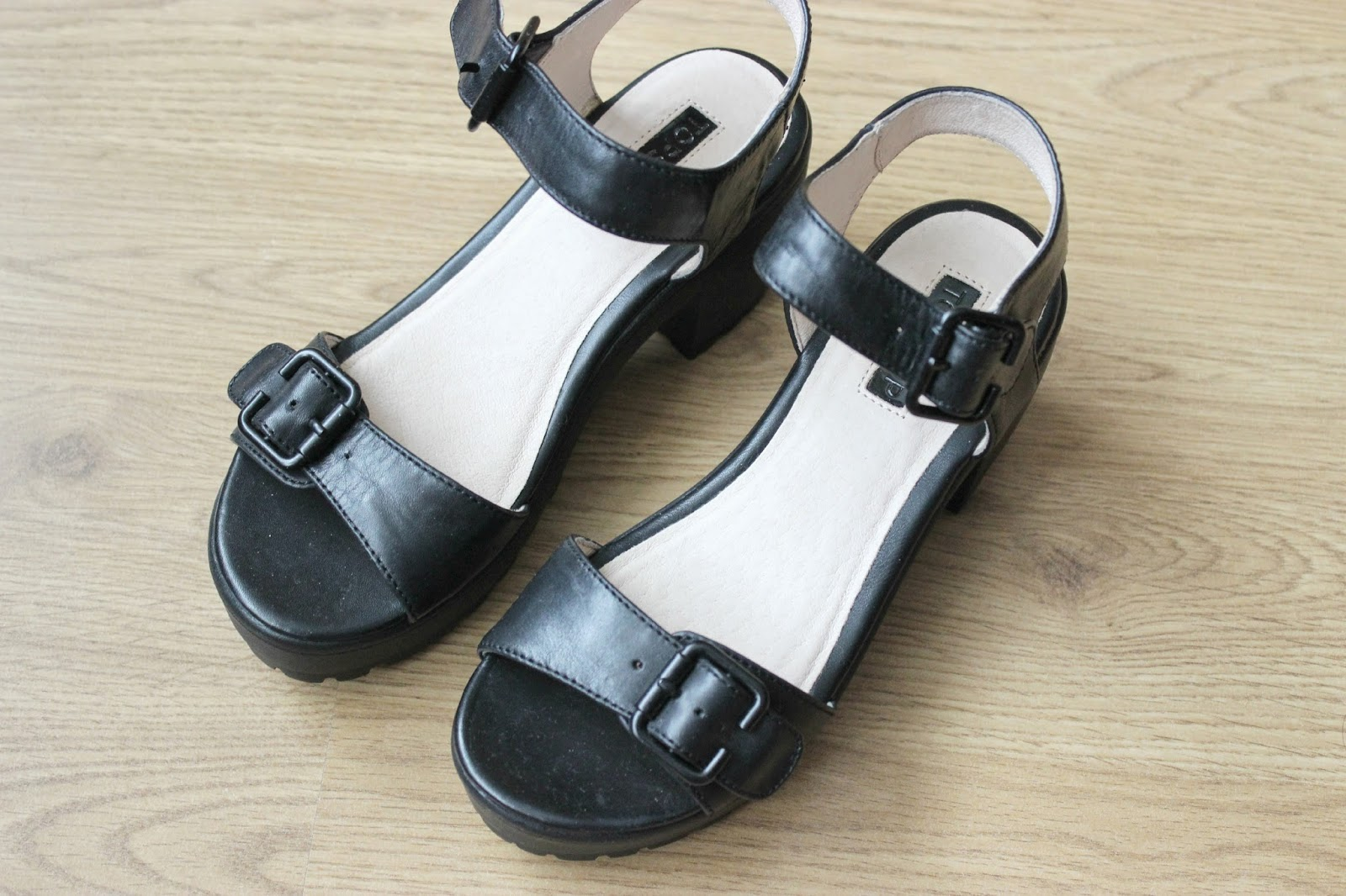 Picture of Topshop Nation 2-Part Cleated Sandals
