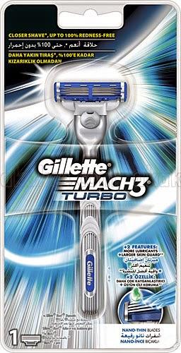 Gillette Mach3 Turbo Tek Başlıklı Tıraş Makinesi