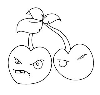 How To Draw Plants vs Zombies Cherries Step 6