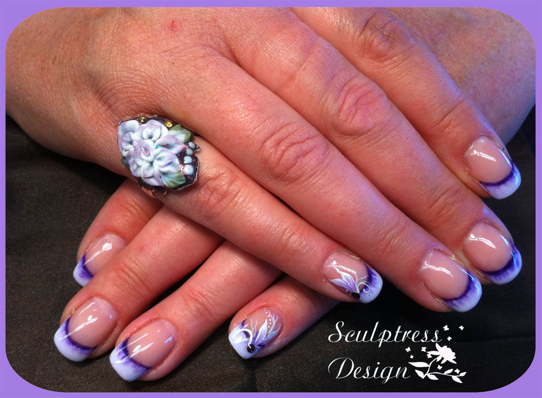 Pink And White Gel Nails Fill- HireAbility