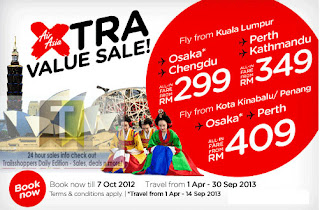 Air Asia Xtra Value Sale 2012