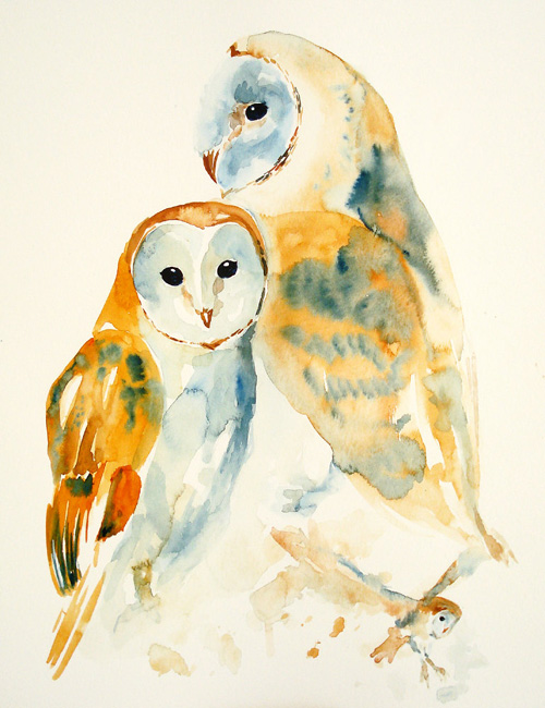 My Owl Barn Watercolor Paintings By Irene