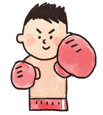 プロボクシングの選手のイラスト(スポーツ)