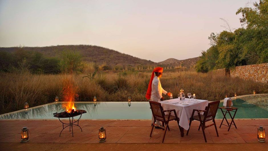 Sher Bagh Resort, located at the edge of the Ranthambore National Park is an eco-friendly luxury resort.