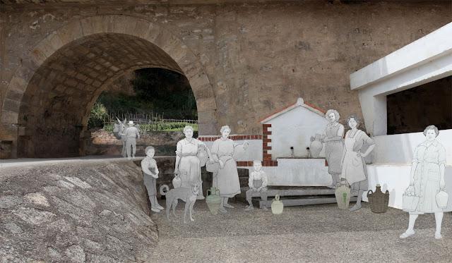 mujeres en la fuente , Bicorp, museo