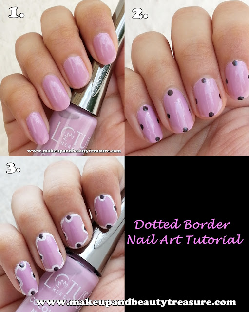 Dotted Border Nail Art Tutorial