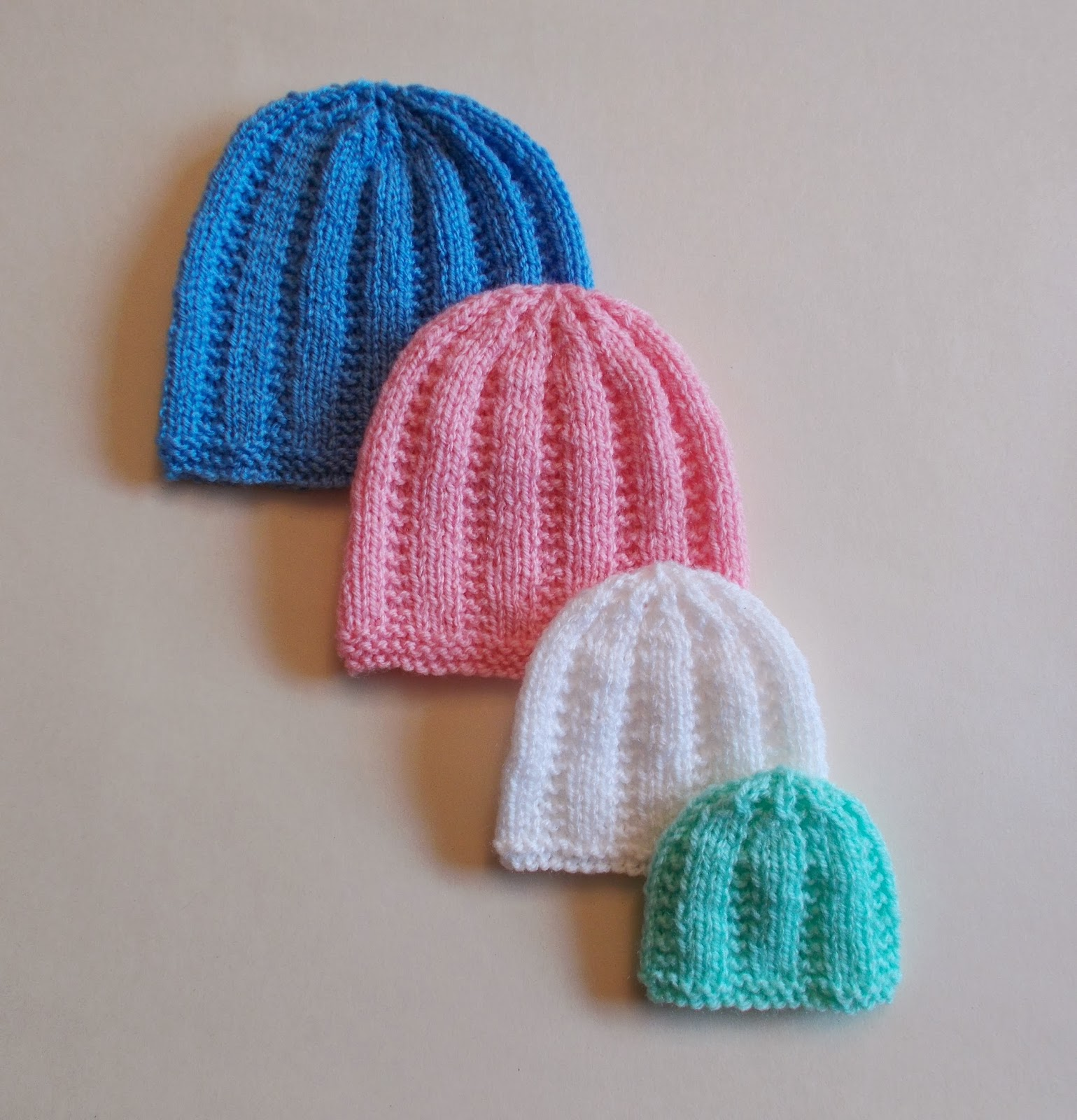Easy Preemie Hat Knitting Pattern : mariannas lazy daisy days: Perfect Premature and Newborn ...