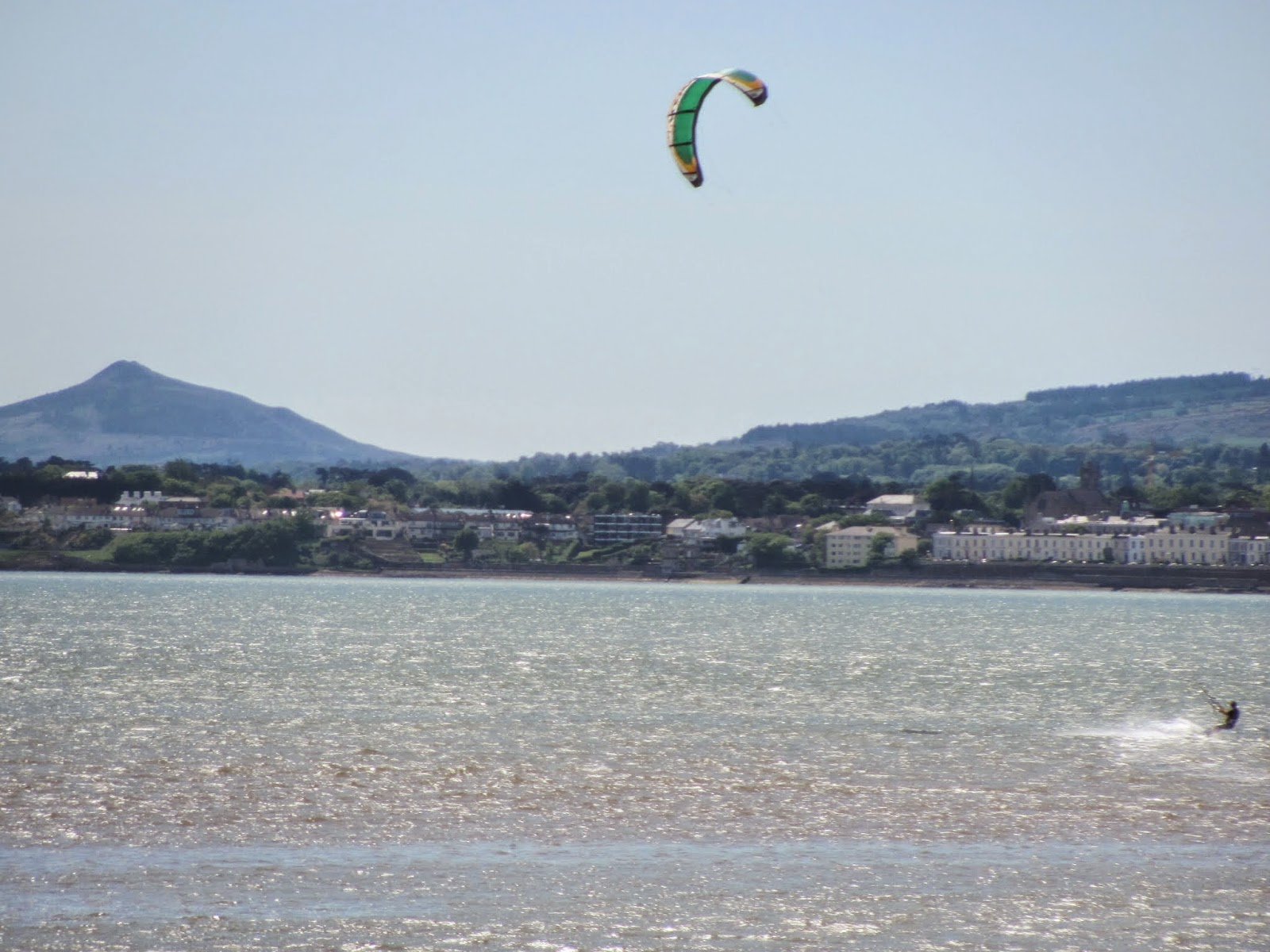 Kitesurfer on Dublin Bay