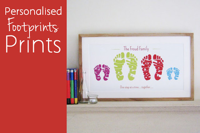 Personalised Footprints print by Name Art