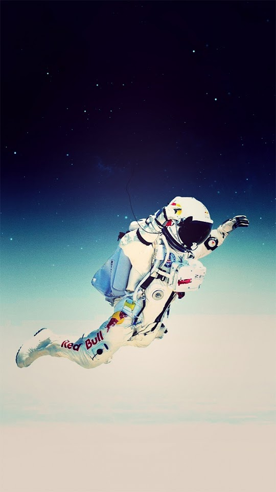 Jump From Space Red Bull Felix Baumgartner Illustration Galaxy Note HD Wallpaper