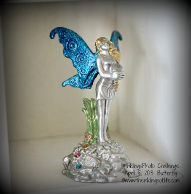 Fairy butterfly statue