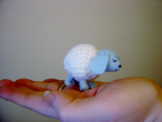 little crochet sheep lamb
