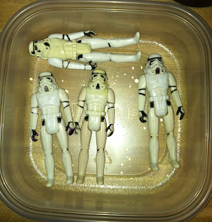 "Vintage Stormtrooper Gentle Giant Kenner 12"" Bootleg Black Hole Trooper Chinese Super 7 Legacy Saga TAC 30th Anniversary Collection Vintage Original Restoration Yellowed Whitening 3.75"" HONG KONG MEXICO GLASSLITE"