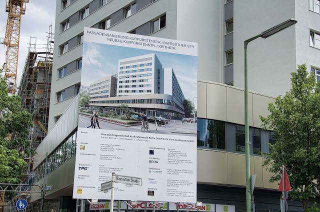 Baustelle Fassadensanierung Kurfürstenstraße / Bayreuther Straße, Neubau Kurfürstenstraße / Keithstraße, Kurfürstenstraße 80, 10787 Berlin