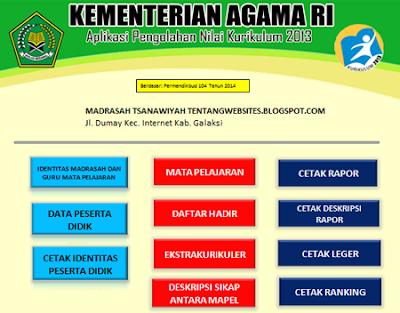 Aplikasi raport K13 Mts