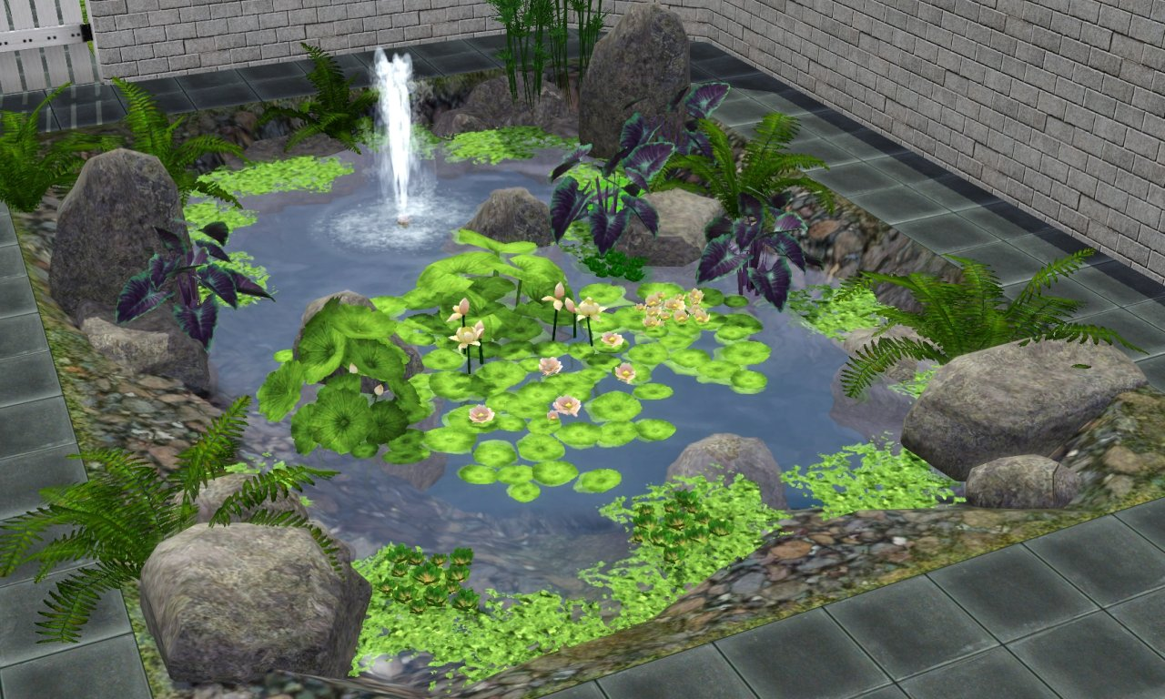 My sims 3 blog plant pack pt1 water plants by porphyria259 for Waterside plants