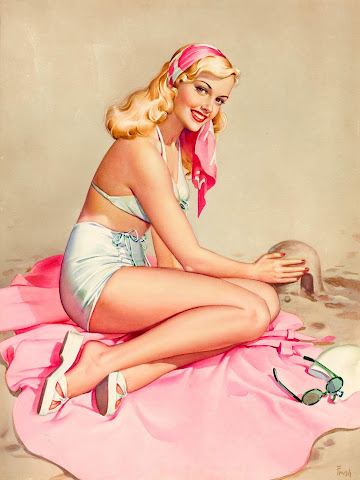 Pearl Frush pin up girl
