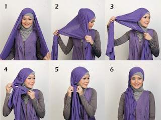 Tips Cara Pakai Jilbab Modern
