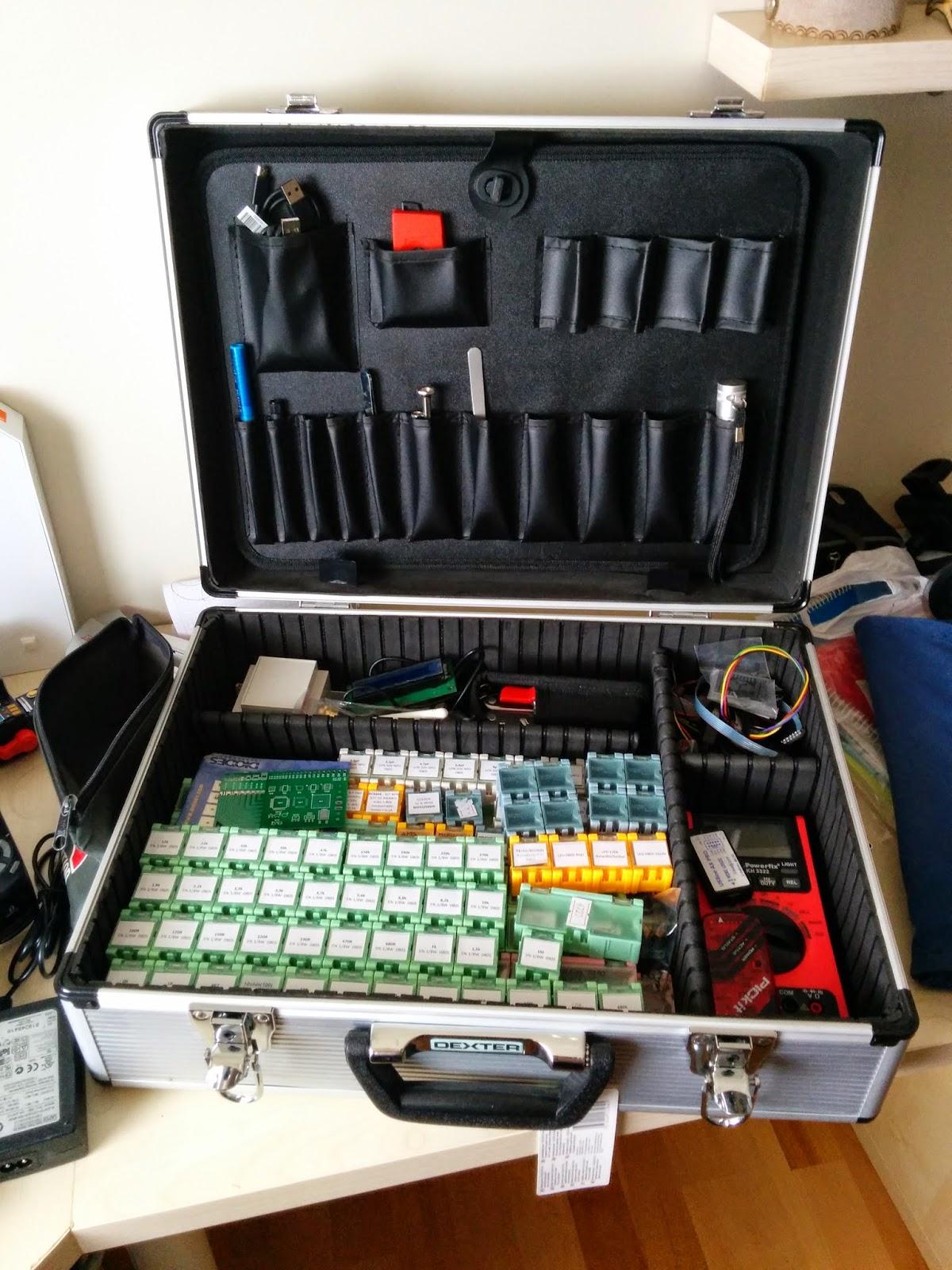 Organización interna del maletín
