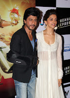 Deepika Padukone with Shahrukh Khan in White Transparent Designer Gown Stunning Beauty