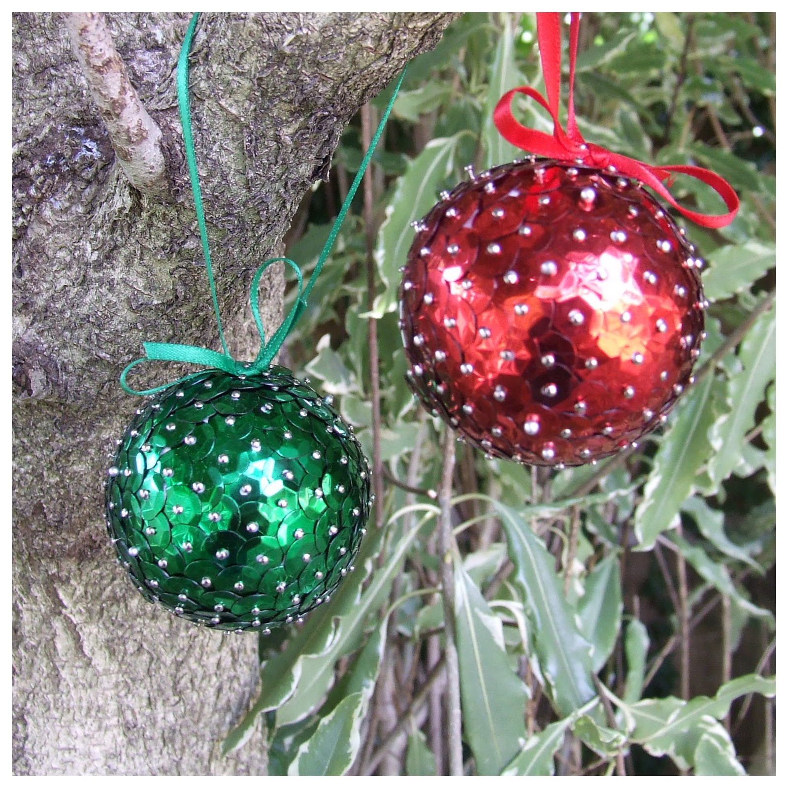 fitzbirch crafts sequin christmas baubles