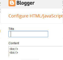 adding br tag to html widget