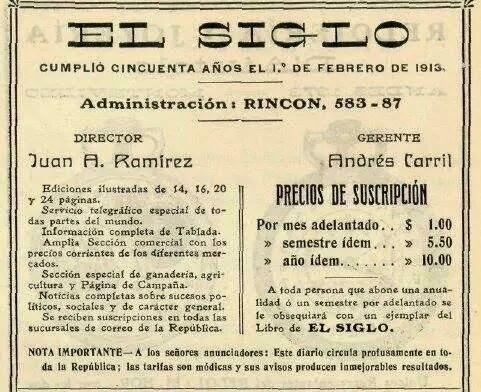 Revista el Siglo año 1913