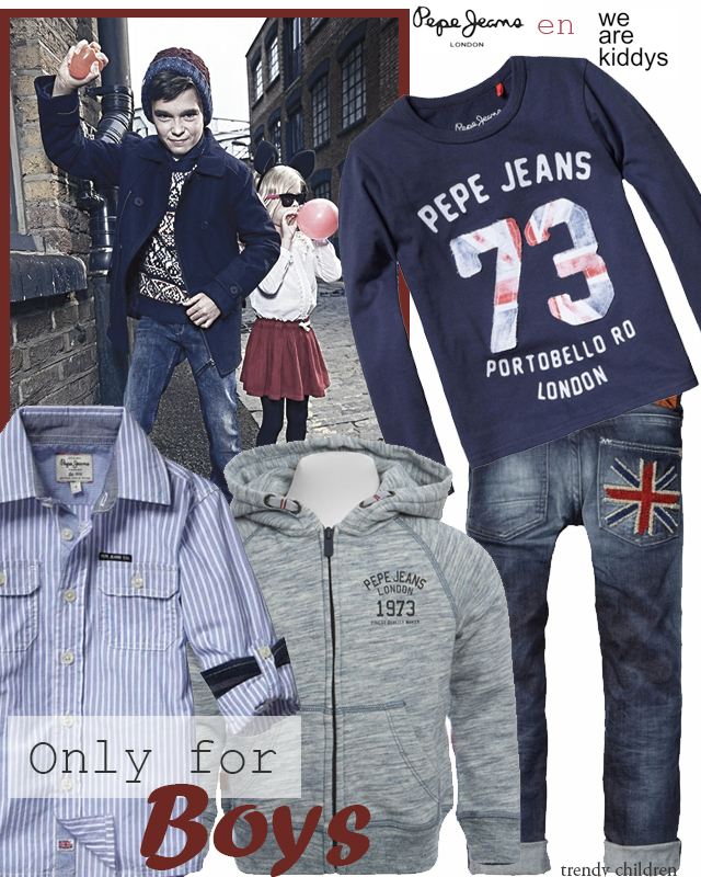 Lookbook Pepe Jeans niño otoño invierno 2014 2015 wearekiddys Trendy Children