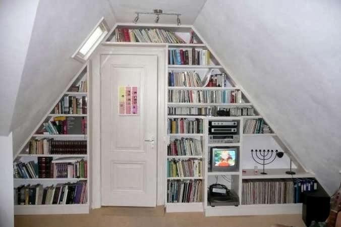 Oohbooknl boekenkasten - Kantoor onder het dak ...