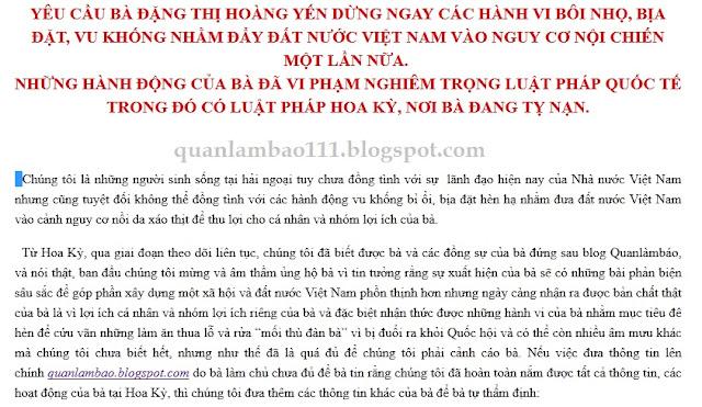 quanlambao - Lật mặt Đặng Thị Hoàng Yến