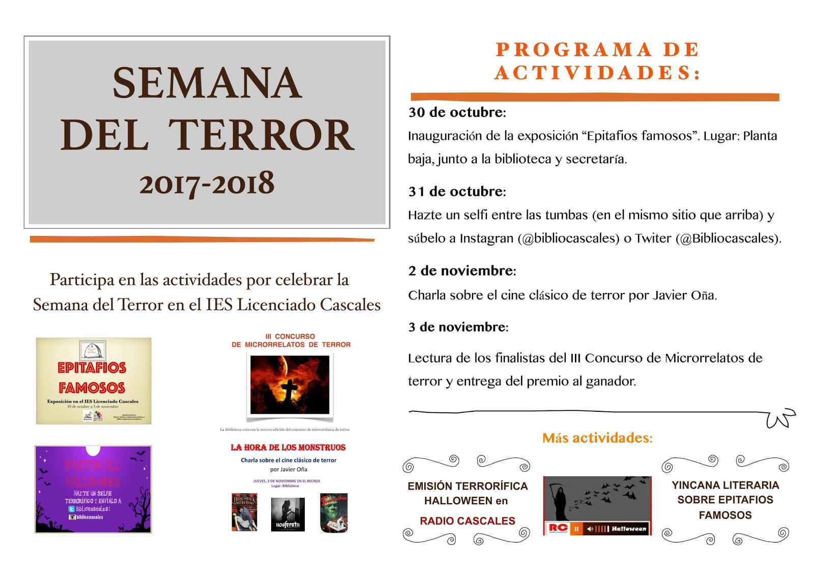 CARTEL SEMANA DEL TERROR