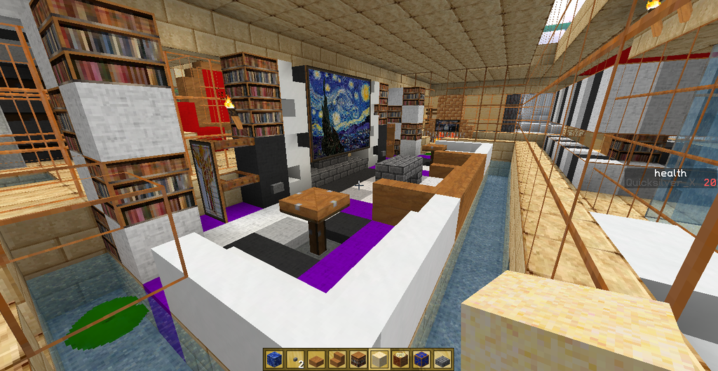 Minecraft Furniture Livingroom Tutorial Youtube Living Room