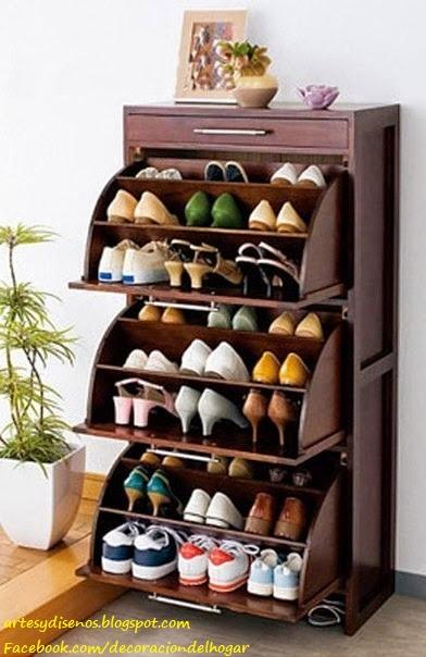 Muebles para organizar zapatos decoraci n del hogar for Mueble para guardar zapatos madera