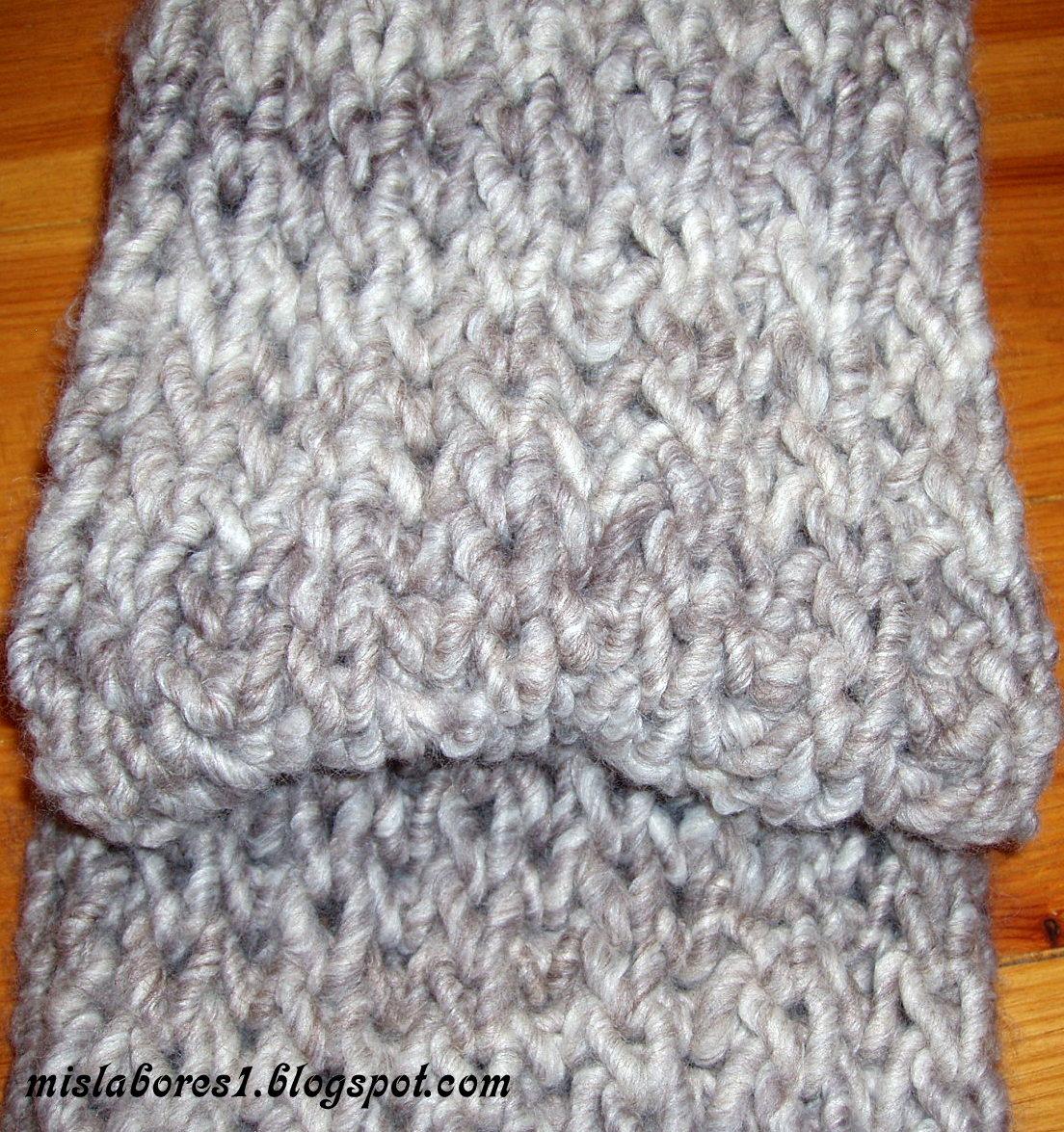 Mis labores cuello de punto ingles - Labores de punto de lana ...