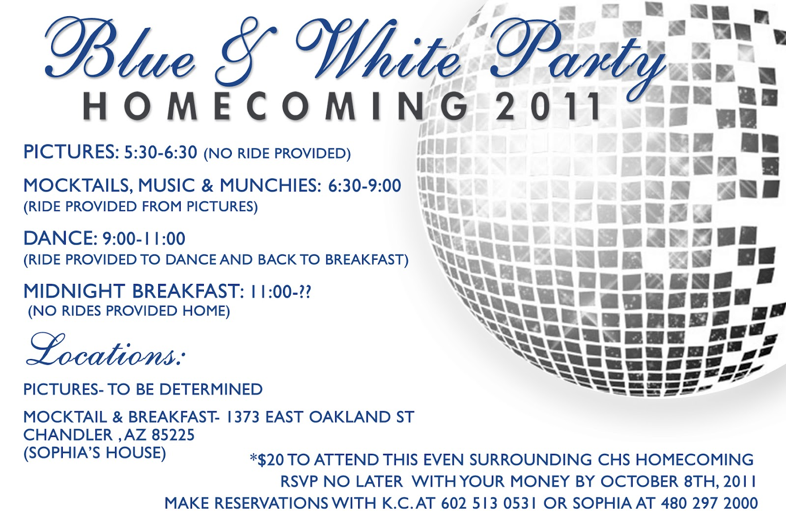 Designs By Kassie Homecoming Party Invite