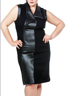vestido de couro Queen Grace