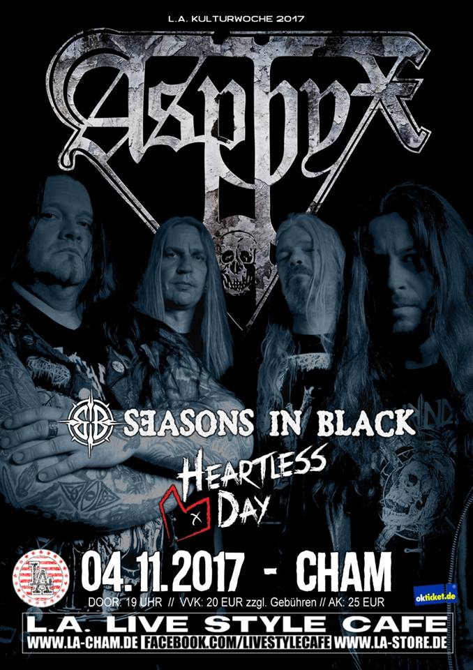 4. 11. 2017 - Asphyx // Seasons in Black // Heartless Day