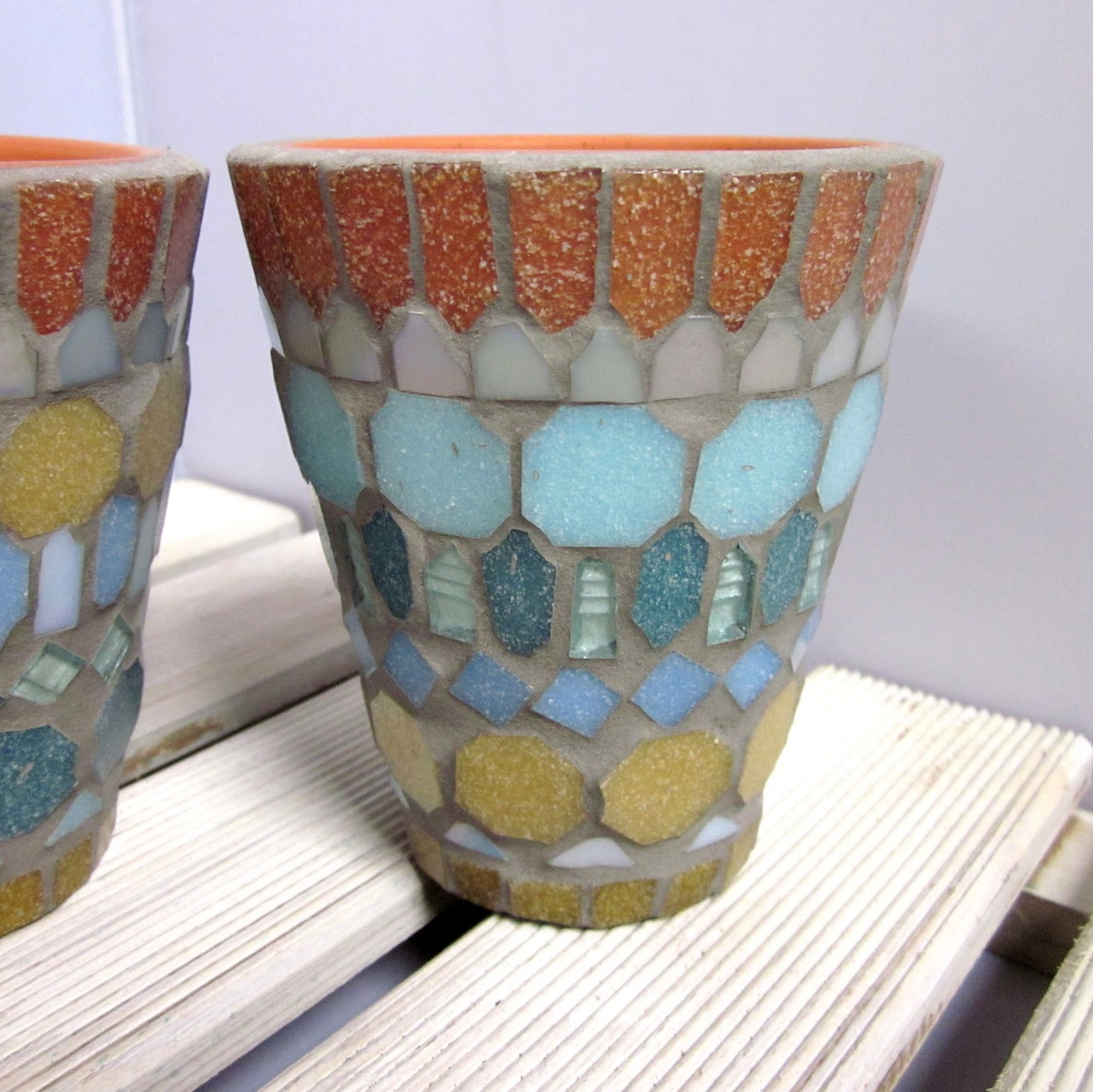 how to make mosaic pot plant