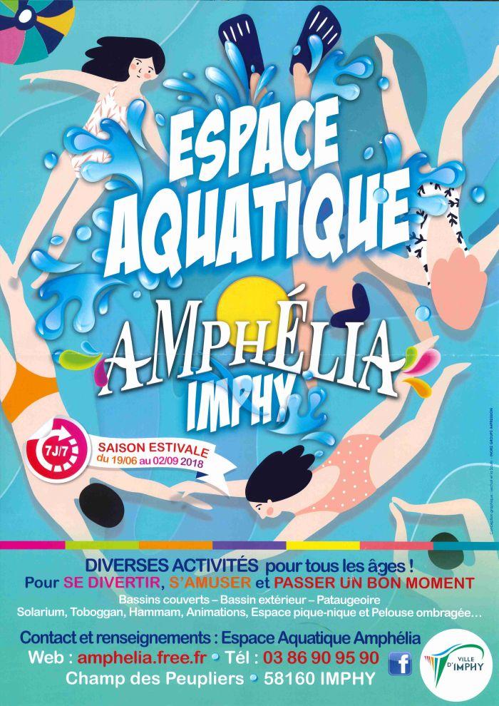 Espace Aquatique Amphélia à Imphy Saison du 19 juin au 02 septembre