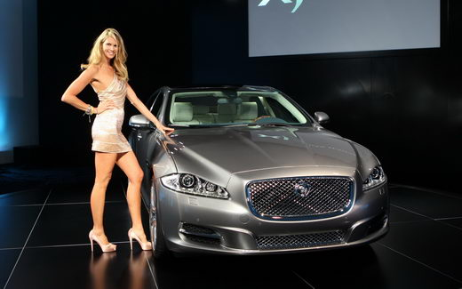 jaguar xj with sexy lady