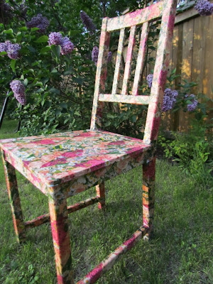 Mod Podge, Floral Chair, Mod Podge Chair