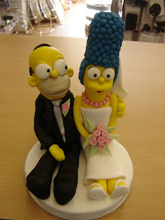 Homer and Marge Wedding Cake Topper