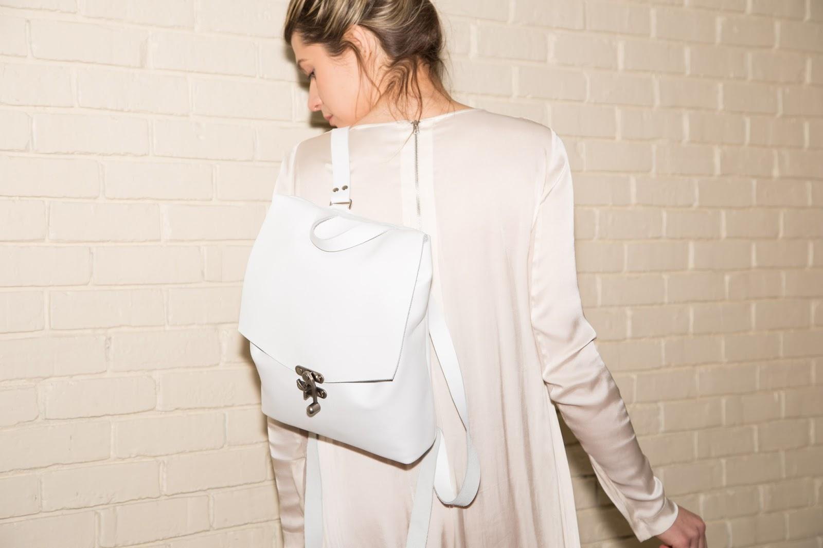 minimalist leather backpack