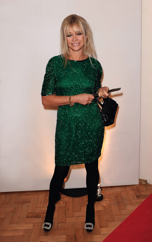 Jo Wood Wears A Vintage Green