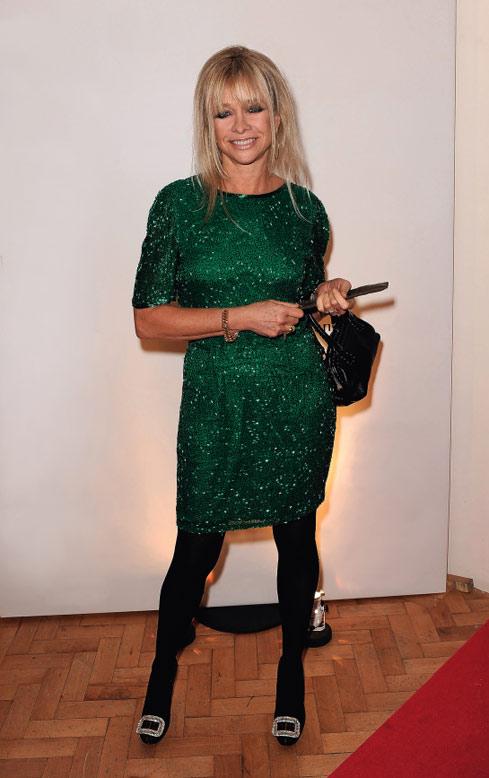 Jo Wood Wears A Vintage Green
