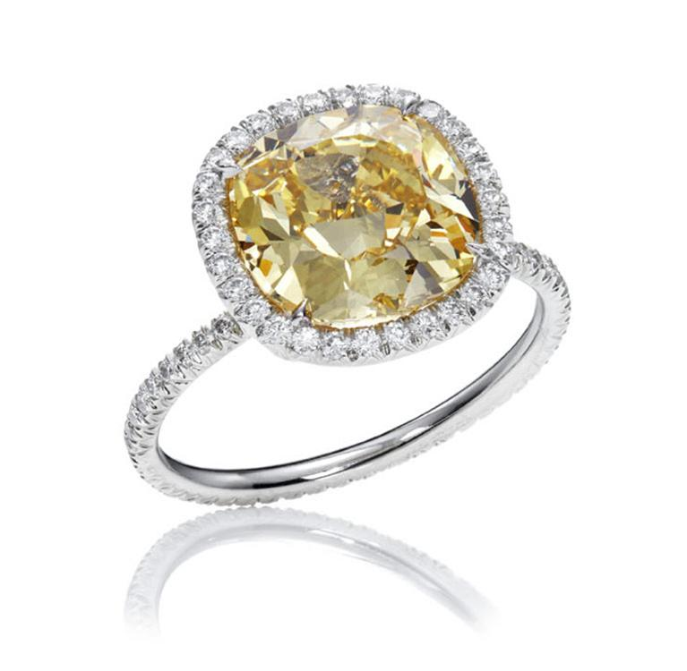 Halo Ring Halo Ring With Yellow Diamond