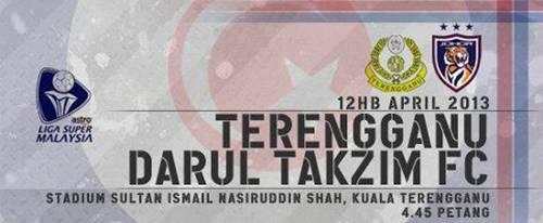 Keputusan Terengganu vs Darul Takzim 12 April 2013 - Liga Super 2013